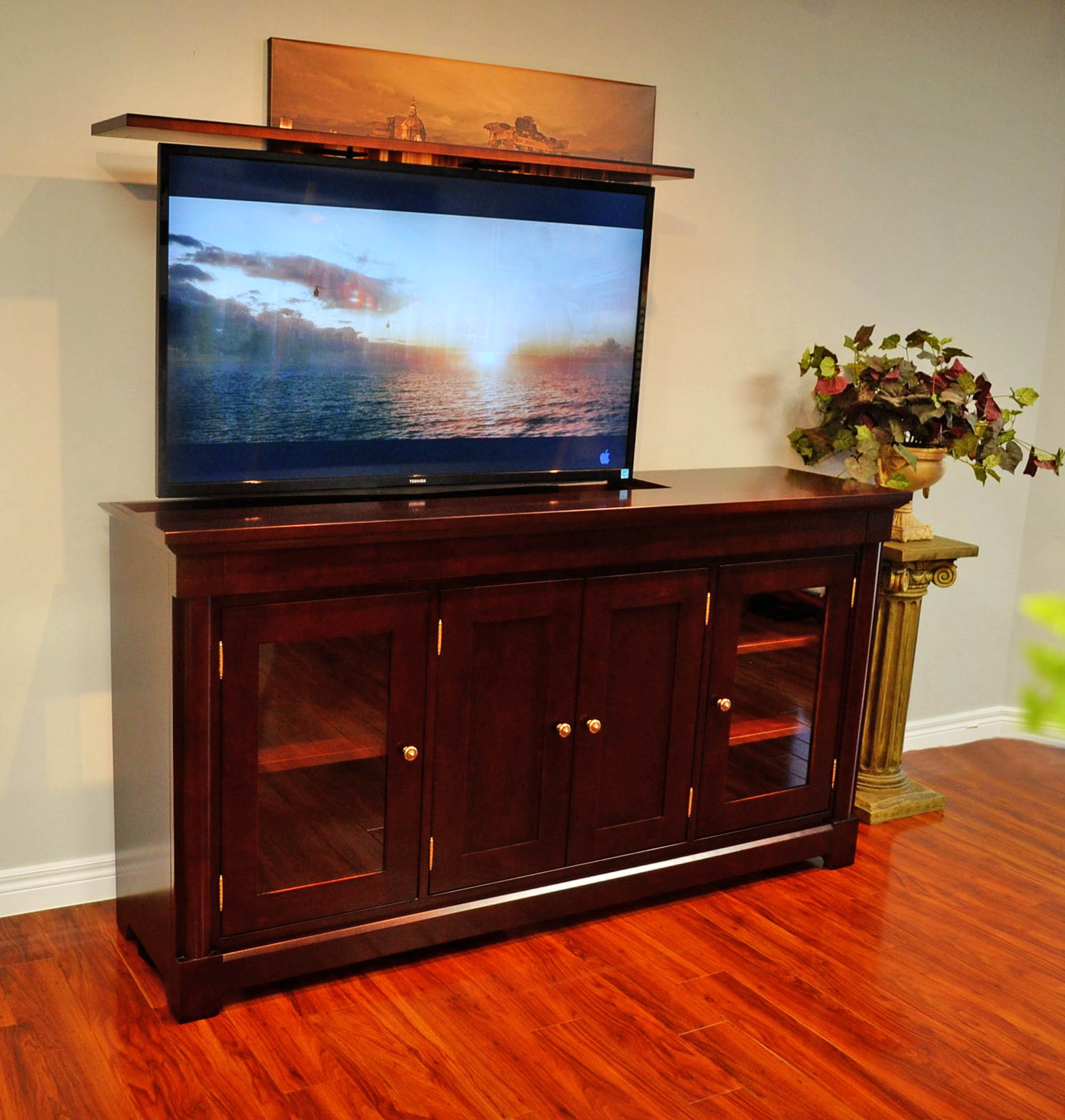 2018.03.16 Activated Decor Motorized TV Furniture The Rouge Valley TV Lift  Cabinet 3